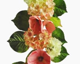 "48"" Magnolia/Hydrangea Garland"
