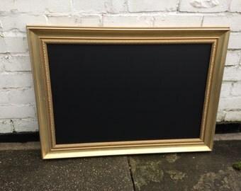 Gold chalkboard menu cafe menu blackboard