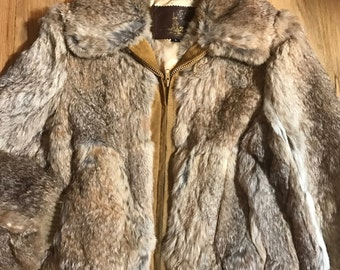 Vintage rabbit fur size L Line Two New York great condition