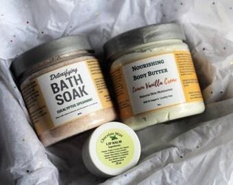 Organic Gift Basket, Spa Gift Basket, Spa Gift Box, Spa Kit, Bath Gift Set, Vegan Gift Basket, Birthday Gift, Mothers Day Gift, Skincare