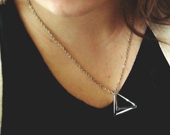 Geometric Pyramid Necklace