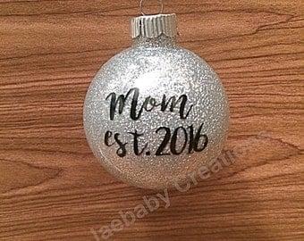 Family ornament, New mom ornament, new dad ornament, established ornament