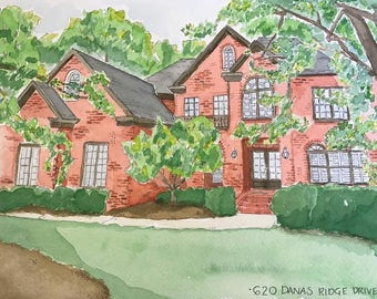Custom Watercolor Paintings of Your Home