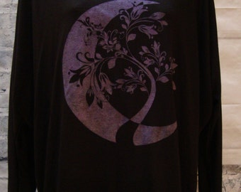 Boatneck top, Long sleeve top, Off the shoulder top, Moon and Tree