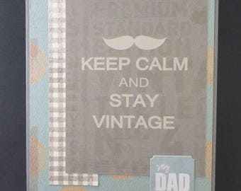 Keep Calm and Stay Vintage Father's Day Card 2623
