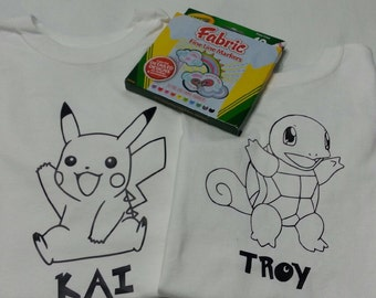 Pokemon Coloring Shirt