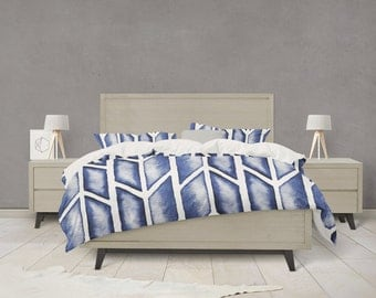 Indigo arrow tribal pattern duvet cover