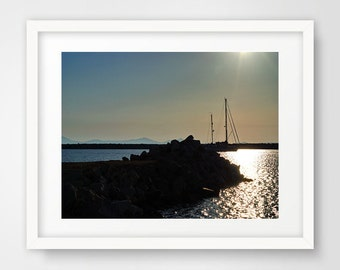 Landscape photography, sunset picture, wall prints, beach sunset, wall pictures, Naxos Greece, beach wall art, greek islands, greek art