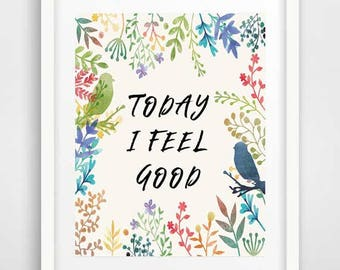Inspirational wall art, typography art, positivity quotes, wall print, positive thinking quotes, art posters, quotes about grief, wall decor