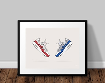 Nike Air Max 1 OG Illustrated Poster Print | A6 A5 A4 A3