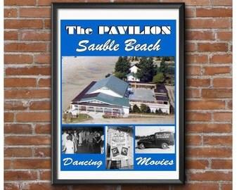 Sauble Beach Pavilion Poster – Lake Huron Beach Front Dance Hall