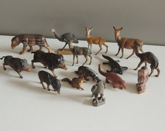 Old Vintage Animals Starlux Savannah and Forest / Animal Zoo / Small Soldier Theme & Figures