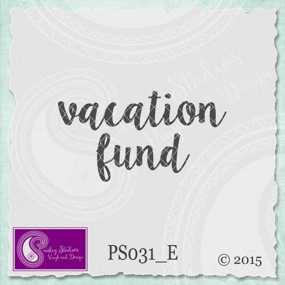 Vacation Fund SVG - Fund Jar Vector - Mason Jar Piggy Bank ...