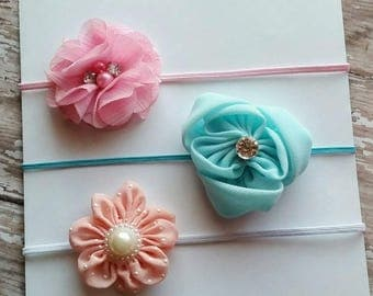 Baby headband set, Spring skinny elastic headband set