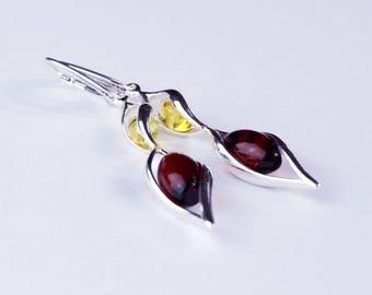 Beautiful amber earrings