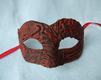Red mask, Black red mask, OOAK mask, carnival mask, masquerade mask,Cosplay,Theatrical mask,Photo prop,Costume mask,Dressing up mask,Masques