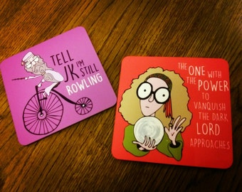 Harry Potter Wizard and Witch Parody Art Illustrated Coasters