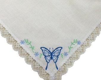 Personalised ladies butterfly handkerchief