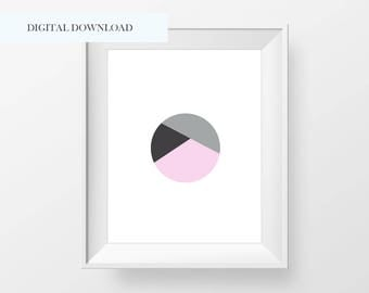 Modern Abstract Circle Print, Printable Art,  Modern Wall Art, Modern Minimal Wall Print, Minimalist Wall Art, Modern Circle Print