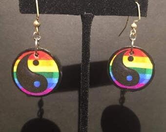 Queer Yin and Yang Earrings!