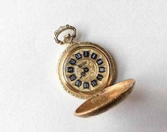 Pocket watch pendant etsy vintage chateau pocket watch pendant gold pocket watch gold filagree floral design aloadofball Gallery