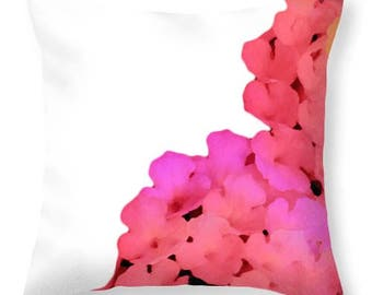 colorful throw pillows,designer pillow,sofa pillow,cushion,floral pillow,white,pink,black,personalized color background,home decor,flower