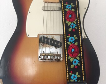 Handmade Guitar Strap, vintage, limited edition
