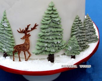 A pine tree silicone Mold Fondant Gum Paste Chocolate Craft Mold For Resin Polymer Clay Metal Clay,porcelain mold,cake decoration mold