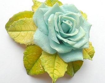 rose barrette brooch