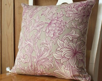 William Morris Chrysanthemum Toile Arts and Crafts Cushion Cover