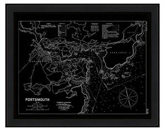0457-Portsmouth Harbor 1909-Eldridge Chart-Negative Version