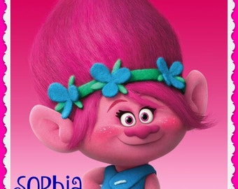 Poppy Trolls Movie Sugar Cookie Birthday Party Favors