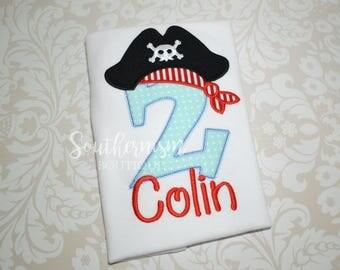 Pirate Birthday Shirt, Boys Birthday, Nautical Birthday, Nautical Shirt, Pirate Shirt, Pirate Shirt with name, personalized, shirt with name