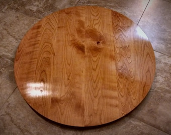 Round Table Top   Solid Black Cherry Wood // Breakfast, Cafe, Coffee,