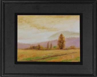 Original Landscape Painting - 11x14 inches, Oil on canvas board,Impressionist autumn Landscape