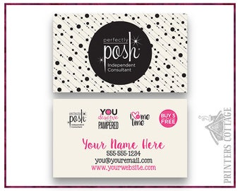 Perfectly posh business cards | Etsy