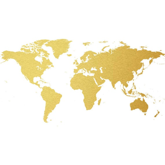 World map gold foil clip art state commercial use globe north world map gold foil clip art state commercial use globe north america south america europe asia instant download from dimenticare on etsy studio gumiabroncs Images