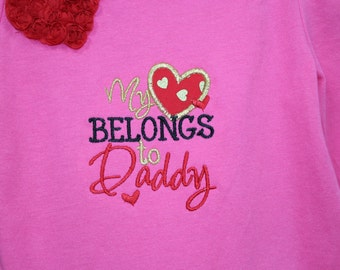 Baby Girl Valentines Day outfit, Toddler Girl Valentines Day outfit,Red Ruffle pants with Gold metallic hearts, Hot Pink Valentine Shirt