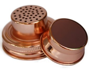 Copper Cocktail Shaker Lid for Mason Jars / Regular Mouth