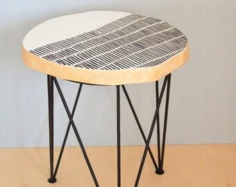 BIRCH SIDE TABLE nr 1 pattern