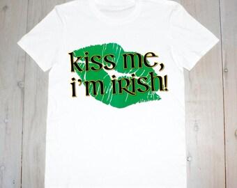 Kiss Me, I'm Irish- Printed Adult Tee