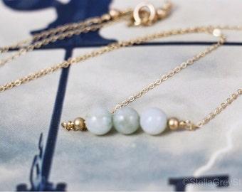 Birthstone aquamarine Gemstone bar Layering gold necklace Bridesmaid gift Minimalist gemstone bar Birthstone necklace Unique gift for her