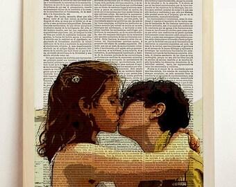 Moonrise Kingdom Print Wes Anderson Movie Poster Jared Gilman Kara Hayward Sam Kiss Art Upcycled Decor Book Dictionary