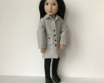A Girl for All Time Wool Coat with back pleat and patch pockets