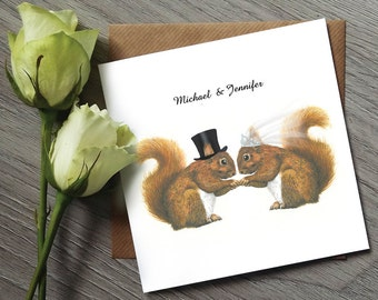 Squirrel Wedding Invitations - Funny Wedding Invitations - Wedding Invitation - Wedding invitations UK - Personalised Wedding Invitation