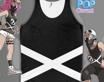 Team Skull Grunt Cosplay Tank Pokemon Cosplay Pokemon Sun and Moon Inspired Pokemon Sun Pokemon Moon ***Women & Mens Sizes***