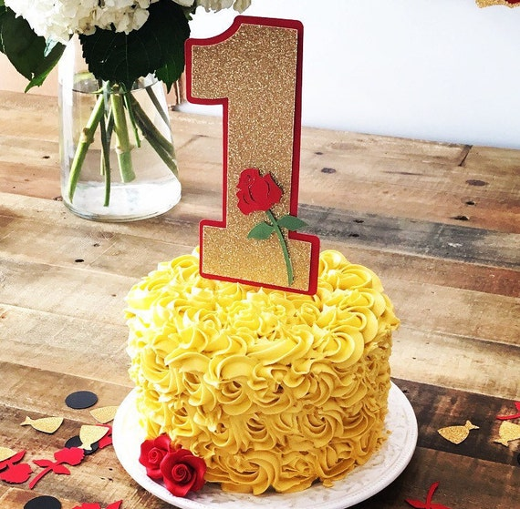 Beauty and The Beast Smash Cake Topper First Birthday Party