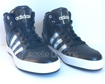 Swarovski Crystal Adidas Shoes - Blinged Out High Tops with SWAROVSKI® XIRIUS Rose Crystals - Bling Adidas Originals for Women
