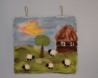 Felted Picture Landscape   :o)