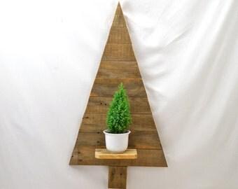 Tannenbaum aus Palettenholz Weihnachtsbaum Holzbaum Holzweihnachsbaum zum Aufhängen Holztannenbaum schlicht als Weihnachtsdeko nachhaltig